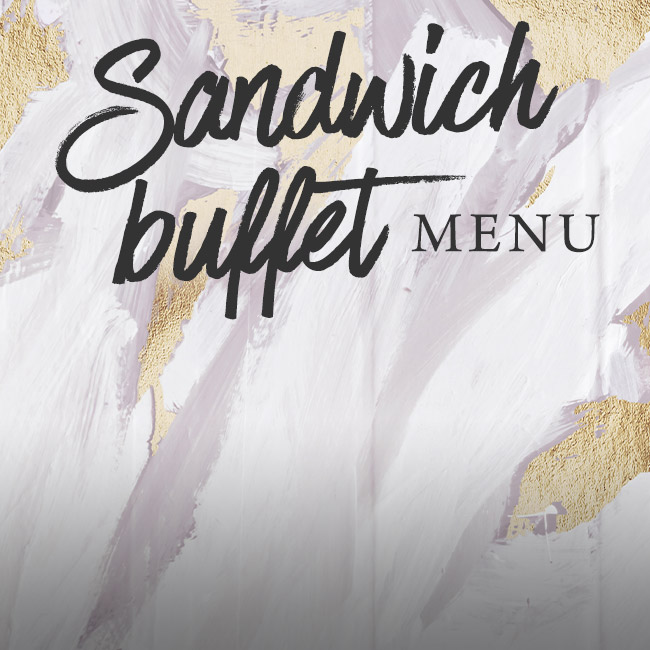 Sandwich buffet menu at The Kings Arms