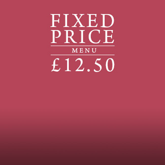 Fixed Price Menu at The Kings Arms
